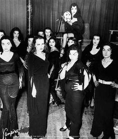 Vampira fans gather together in the 50's.