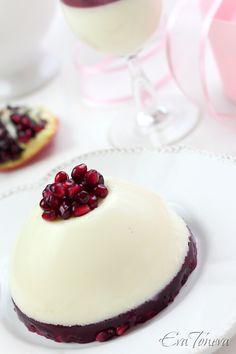 Pomegranate Panna Cotta