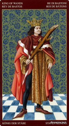 King of Wands - Medieval tarot by Guido Zibordi