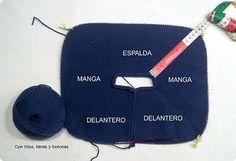 Con hilos, lanas y botones: Chaqueta punto bobo para bebé paso a paso Knitting Patterns Uk, Arm Knitting, Knitting For Kids, Diy Crochet Cardigan, Knitted Baby Cardigan, Knit Crochet, Crochet Girls, Crochet Round, Crochet For Kids