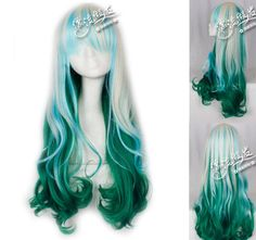 Blue wig. Seattle Seahawks colors Cosplay wig. Navy blue with neon ...