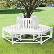 Half Wrap Wooden Tree Bench image  #contest