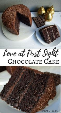 The BEST chocolate cake recipe out there. Rich, moist cake with a tender crumb meets a creamy chocolate fudge frosting. You will love it at first bite.