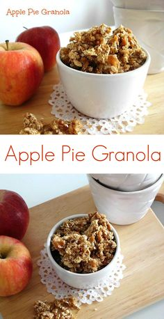 Apple Pie Granola #Recipe - a #healthy and wholesome #breakfast made entirely from scratch without any nasty additives. Perfect for busy school mornings and bursting with fall flavours!   www.pinkrecipebox.com