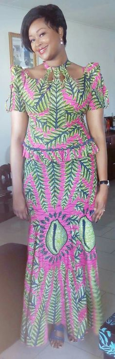 Ankara. Love the top/neck. Would make it a pencil dress or bodycon though