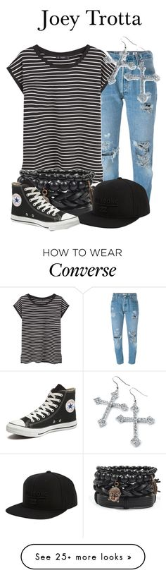 """""""Joey Trotta"""" by megan-vanwinkle on Polyvore featuring Levi's, MANGO, Billabong and Converse"""