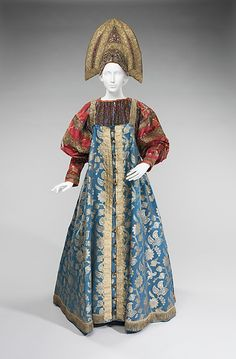 Traditional Russian costume, 19th century; from the collection of Natalia de Shabelsky (1841-1905)