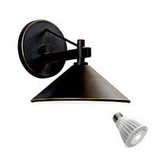 Kichler Lighting 7-3/8-Inch Outdoor Wall Light with 9-Watt LED PAR20 Bulb 49059OZ/9W PAR20 LED