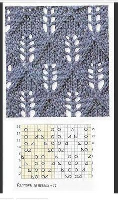 """Ажурные узоры спицами """"Candle Light - lots of lace patterns, not in English but with charts. Now I just need to learn to understand lace knitting charts. Lace Knitting Patterns, Knitting Stiches, Knitting Charts, Knitting Needles, Crochet Stitches, Baby Knitting, Stitch Patterns, Lace Patterns, Knitting Projects"""