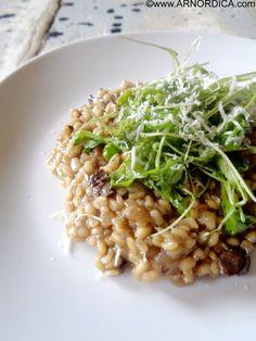 ArNordica: Risotto de cebada y hongos