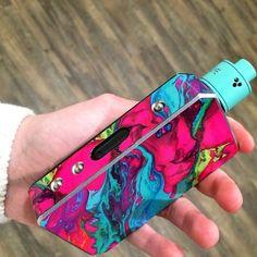 Pink & Blue Custom Vape Mod ~ Vape Discount & Mod VIP SALES
