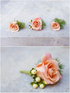dallas wedding photographer, groomsmen boutonnieres, orange boutonniere flowers, Mary Fields Photography