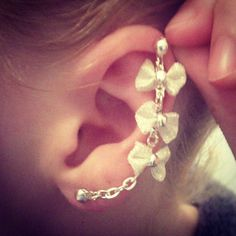 Triple Bow Cartilage Earring by SweetVenomJewels on Etsy, £4.00