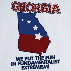 State Pride Georgia Funny Novelty T Shirt Z11725 by RogueAttire, $18.99