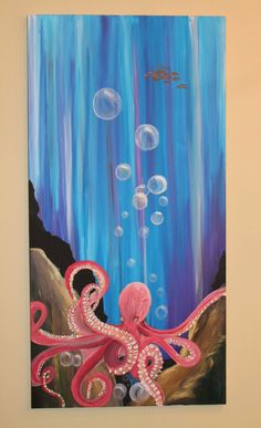 sea creature paintings/ ocean paintings/ by LMEdesignz on Etsy