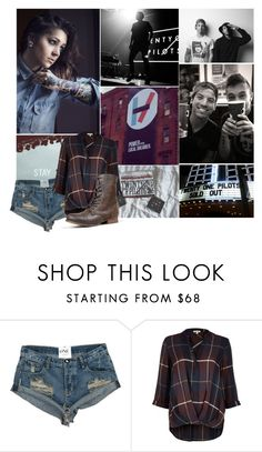 """Twenty One Pilots"" by bvbarmy-jaseyrae ❤ liked on Polyvore featuring River Island and Madden Girl"