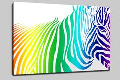 Free Printable Wall Art   ... ZEBRA CANVAS PRINT ART WALL DESIGN MANY SIZES & COLOURS & FREE POSTAGE