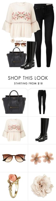 """Oh my love, your heart speaks for my soul. (April 2017)"" by cora97 ❤ liked on Polyvore featuring CÉLINE, rag & bone, Miss Selfridge, Rupert Sanderson, J.Crew, Van Cleef & Arpels, Vintage, Cara and Blue Nile"