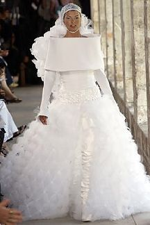 U-G-L-Y, you ain't got no alibi! You're ugly! Hey, hey! You're ugly! Might possibly be the ugliest wedding dress ever.