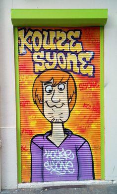 Graffiti Art, Lyon, Street Art, Character, Scoubidou, Fresco, Lettering