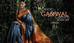 pure #gadwal #handloom #cottonsarees come in #traditional colors such as earthen brown, shades of #blue and pleasing whites.