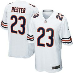 $79.99 Youth Nike Chicago Bears #23 Devin Hester Elite White Jersey