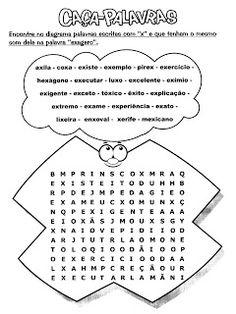 O mundo colorido: Caça Palavras Para Trabalhar a Ortografia