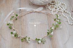 Haarschmuck & Kopfputz - Haarkranz Brautkranz Hochzeit Braut Schleierkraut - ein Designerstück von Kranzverliebt bei DaWanda