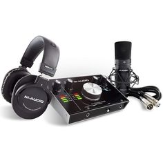 M-Audio M-Track Vocal Studio Pro with Headphones, Microphone and Cable Steinberg Cubase, Midi Keyboard, M Audio, Home Studio Music, Ableton Live, Phantom Power, Thing 1, Pc Computer, Consumer Electronics