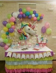 first birthday high chair Unicorn Birthday Decorations, Unicorn Themed Birthday Party, Birthday Party Themes, Rainbow Unicorn Party, Rainbow Birthday, Pony Party, Childrens Party, Party Ideas, Unicorns