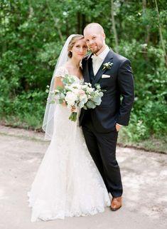 a rustic-elegance-themed wedding in winnipeg - bride and groom