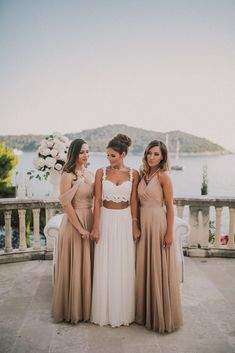 Pretty beige bridesm