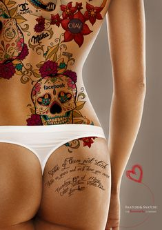 Marketing Strategy- Saatchi & Saatchi Romania: The Lovemarks Tattoo, Female Back Tattoos, Sexy Tattoos, Body Art Tattoos, Girl Tattoos, Tattoos For Women, Tatoos, Tattoo Art, Tattoo Life, Saatchi & Saatchi