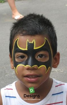 super hero Face Painting www. kids face paint nyc, super hero Face Painting www. Batman Face Paint, Superhero Face Painting, Face Painting For Boys, Body Painting, Simple Face Painting, Face Painting Halloween Kids, Easy Face Painting Designs, Spiderman Face, Halloween Facepaint Kids