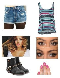 """Untitled #1370"" by pandagirlcdm ❤ liked on Polyvore featuring Billabong, Fiorentini + Baker and Piggy Paint"