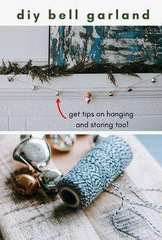 Make this easy DIY jingle bell garland for the holidays! Drape it on your mantel, across a window or mirror or even hang it from your open shelving! Just two inexpensive materials are all you need to create this pretty garland. | Pretty Handy Girl | #prettyhandygirl #diycraft #diygarland #holidaydecor #christmasdecor #diyhomedecor Wood Bead Garland, Diy Garland, Beaded Garland, Garlands, Holiday Storage, Jingle Bells, Rustic Christmas, Christmas Inspiration, Cheap Gifts