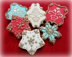 Happy New Year Pattern Cookies
