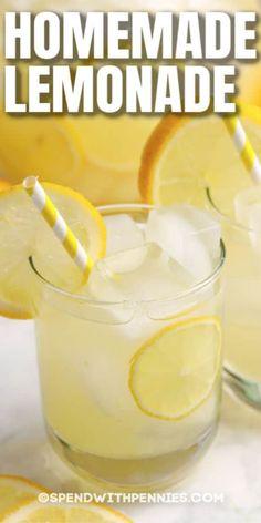 Frozen Pina Colada, Frozen Lemonade, Lavender Lemonade, How To Make Lemonade, Homemade Lemonade, Malibu Rum, Easy Drinks To Make, Food To Make, Pina Colada