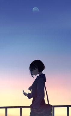 Best Of Anime Wallpaper Aesthetic Cool Anime Girl, Sad Anime, Kawaii Anime Girl, Anime Art Girl, Manga Art, Anime Boys, Manga Anime, Kawaii Art, Japon Illustration