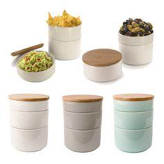 3 teilige Aufbewahrungsdose Keramik mit Bambus Deckel Vorratsdose Tapas Set | Möbel & Wohnen, Kochen & Genießen, Ordnung & Aufbewahrung | eBay!