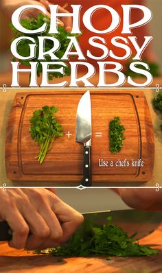 How to chop grassy herbs (fresh parsley, we're looking at you!) #cooking101
