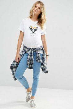 Asos Maternity, Mom Jeans, Html, Bb, T Shirt, Pants, Outfits, Tops, Women