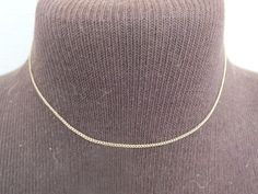 """Vintage Dixelle 120th 12K Gold Chain Necklace, 14"""" Length, 1/16"""" Width, Beautiful Precious Metal Jewelry, Free Shipping  and Gift Box by GiftShopVintage on Etsy"""