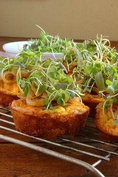 Mini Savory Cheesecakes with Caramelized Onions