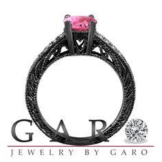 Pink Diamond Engagement Rings Black Gold 22