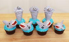 Sharknado Cupcakes from Nerdy Nummies