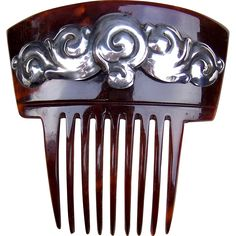 Skonvirke Hair Comb Art Nouveau Sterling Silver Hair Accessory -- found at www.rubylane.com @rubylanecom #VintageBeginsHere #artnouveau