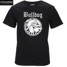 2017 Top quality 100% COTTON o neck Bulldog print men tshirt short sleeve  casual T shirt for men T03