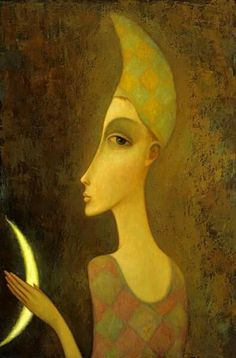 (Russia) Lunaire by Sergey Smirnov (1953- 2006). Oil on canvas.