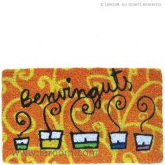 """Laroom - Felpudo naranja velas """"benvinguts"""" - Laroom dissenya i fabrica productes per a la llar i la vida - www.laroom.com"""